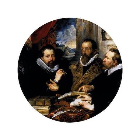 "The Four Philosophers 3.5"" Button"