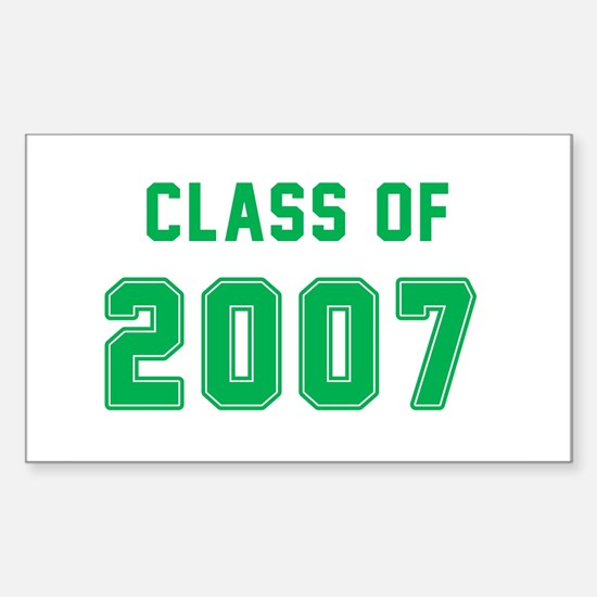 Class of 2007 Green Decal