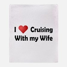 Cruising with my Wife Throw Blanket