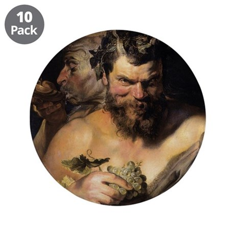 "Two Satyrs 3.5"" Button (10 pack)"