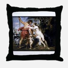 Venus and Adonis Throw Pillow
