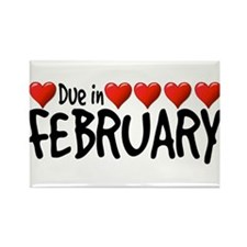 Due in February - Hearts Rectangle Magnet