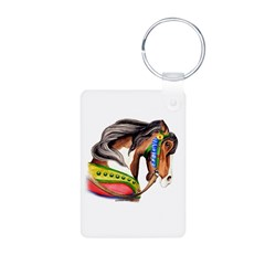 Pinto Carousel Horse Keychains