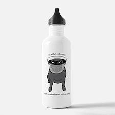 Conehead Black Pug Water Bottle