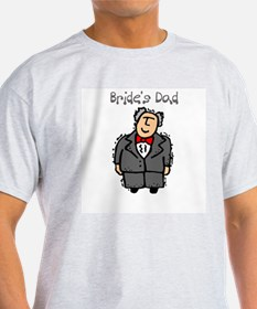 Bride's Dad T-shirt Ash Grey