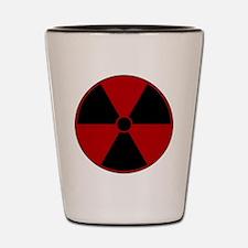Red Radiation Symbol Shot Glass