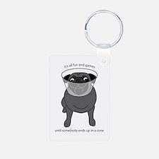Conehead Black Pug Keychains