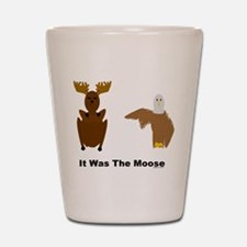 Eagle Blames Moose Shot Glass