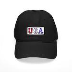 USA Chrome 3D Black Cap