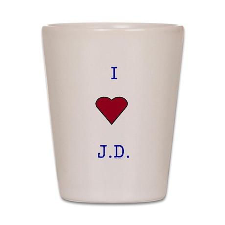 Heart J.D. Shot Glass