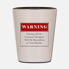 Unique Health warnings Shot Glass