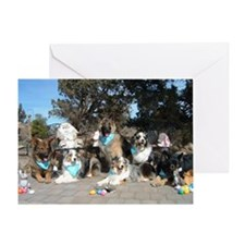 Easter Pups Greeting Card