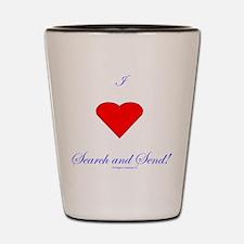 Love Search Send Shot Glass