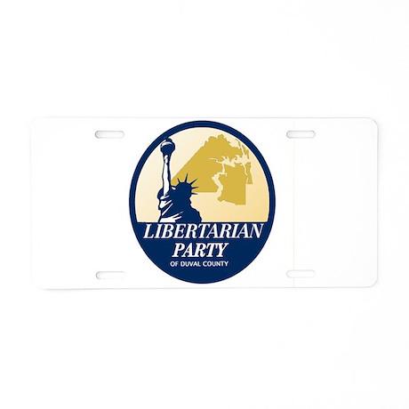 Jax Libertarian Aluminum License Plate