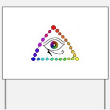 Color Triangle Yard Sign