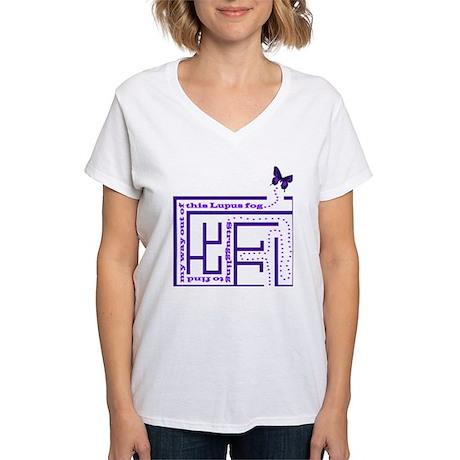 Lupus Fog Women's V-Neck T-Shirt
