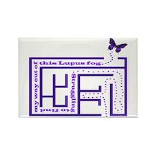 Lupus Fog Rectangle Magnet