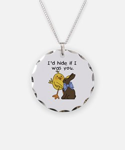 Funny Chocolate Bunny Necklace
