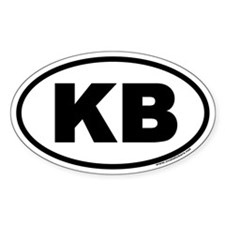 KB Euro Oval Decal
