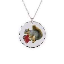 Squirrel with Book Necklace