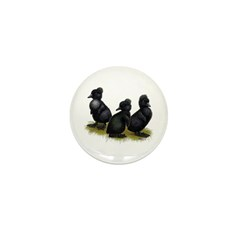Black Crested Ducklings Mini Button (100 pack)