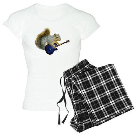 Squirrel with Blue Guitar Women's Light Pajamas