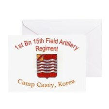 1st Bn 15th Field Artillery Greeting Cards (Pk of