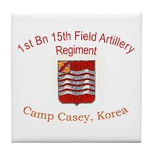 1st Bn 15th Field Artillery Tile Coaster