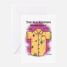 Koi Keeper Shirt Greeting Cards