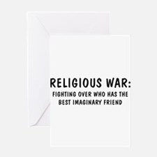 Religious War Greeting Card