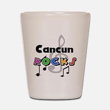Cancun Rocks Shot Glass