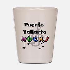 Puerto Vallarta Rocks Shot Glass