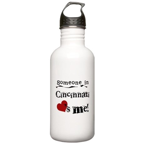 Cincinnati Loves Me Stainless Water Bottle 1.0L