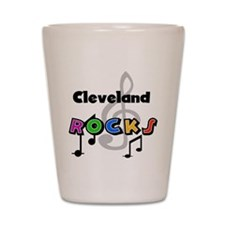 Cleveland Rocks Shot Glass