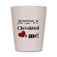 Cleveland Loves Me Shot Glass