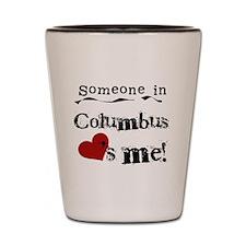 Columbus Loves Me Shot Glass