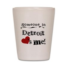 Detroit Loves Me Shot Glass