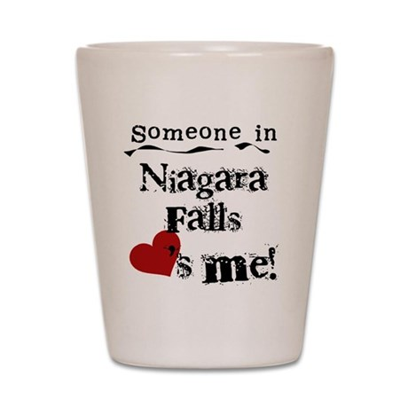 Niagara Falls Loves Me Shot Glass