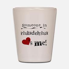 Philadelphia Loves Me Shot Glass