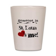 St. Louis Loves Me Shot Glass