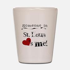 St. Louis Loves Me Shot Glass