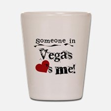 Vegas Loves Me Shot Glass