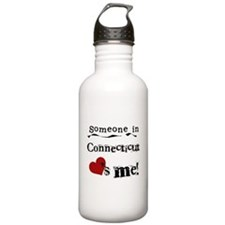 Someone in Connecticut Water Bottle