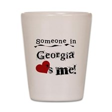 Someone in Georgia Shot Glass