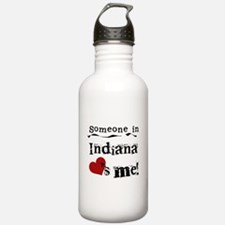 Someone in Indiana Water Bottle