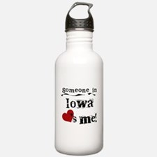 Someone in Iowa Water Bottle