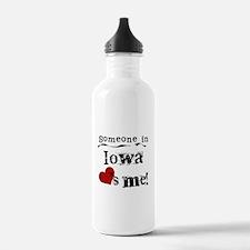 Someone in Iowa Water Bottle