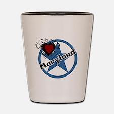 Love Maryland Shot Glass