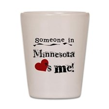 Minnesota Loves Me Shot Glass