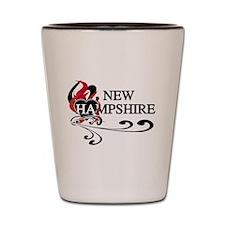 Heart New Hampshire Shot Glass